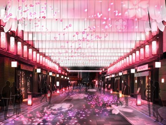 ①日本桜風街道_夜の景