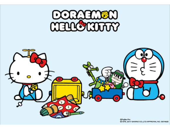 Doraemon & Hello Kitty glasses collaboration for all ages
