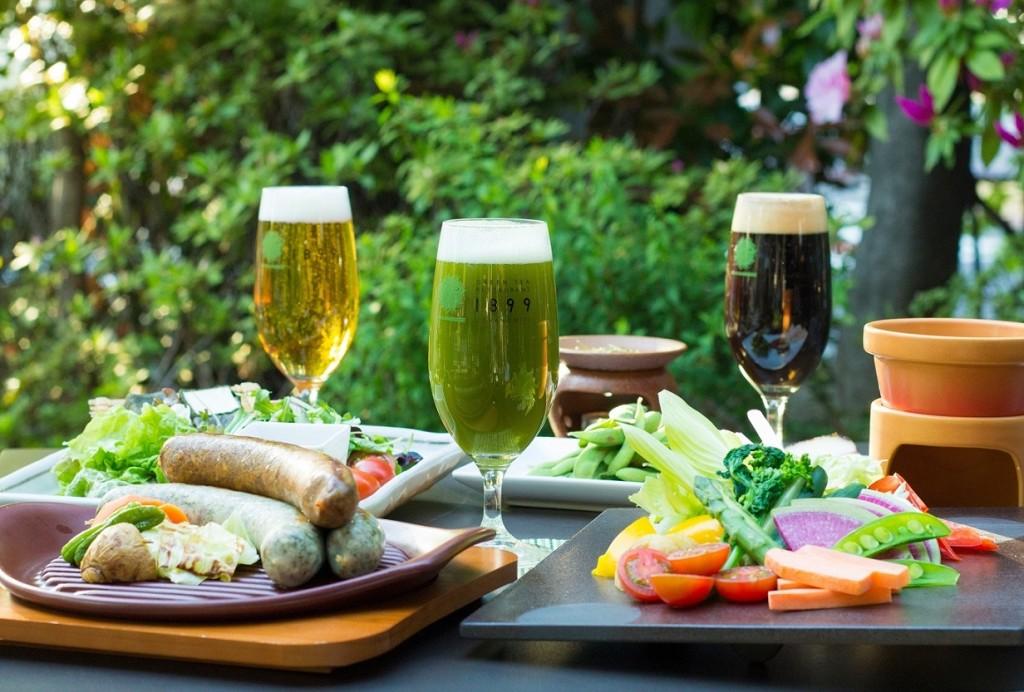 カラフルな【お茶ビール】&【お茶料理】でお茶づくし!