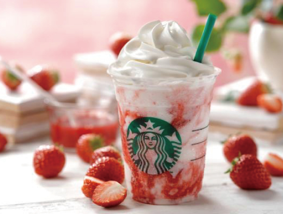 "Starbucks Japan's popular flavor ""Strawberry Cream ..."