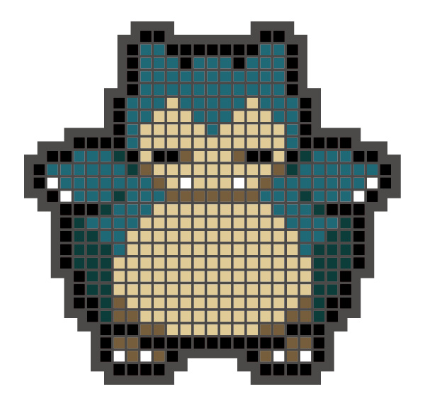 Rubber magnet3_snorlax