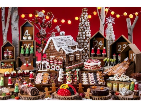 a buffet where the world of a miniature christmas market. Black Bedroom Furniture Sets. Home Design Ideas