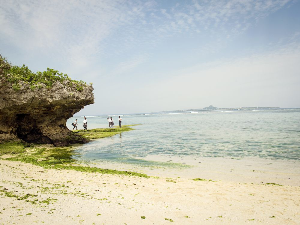 Emerald Beach is located within the Ocean Expo Park on the Motobu Peninsula.