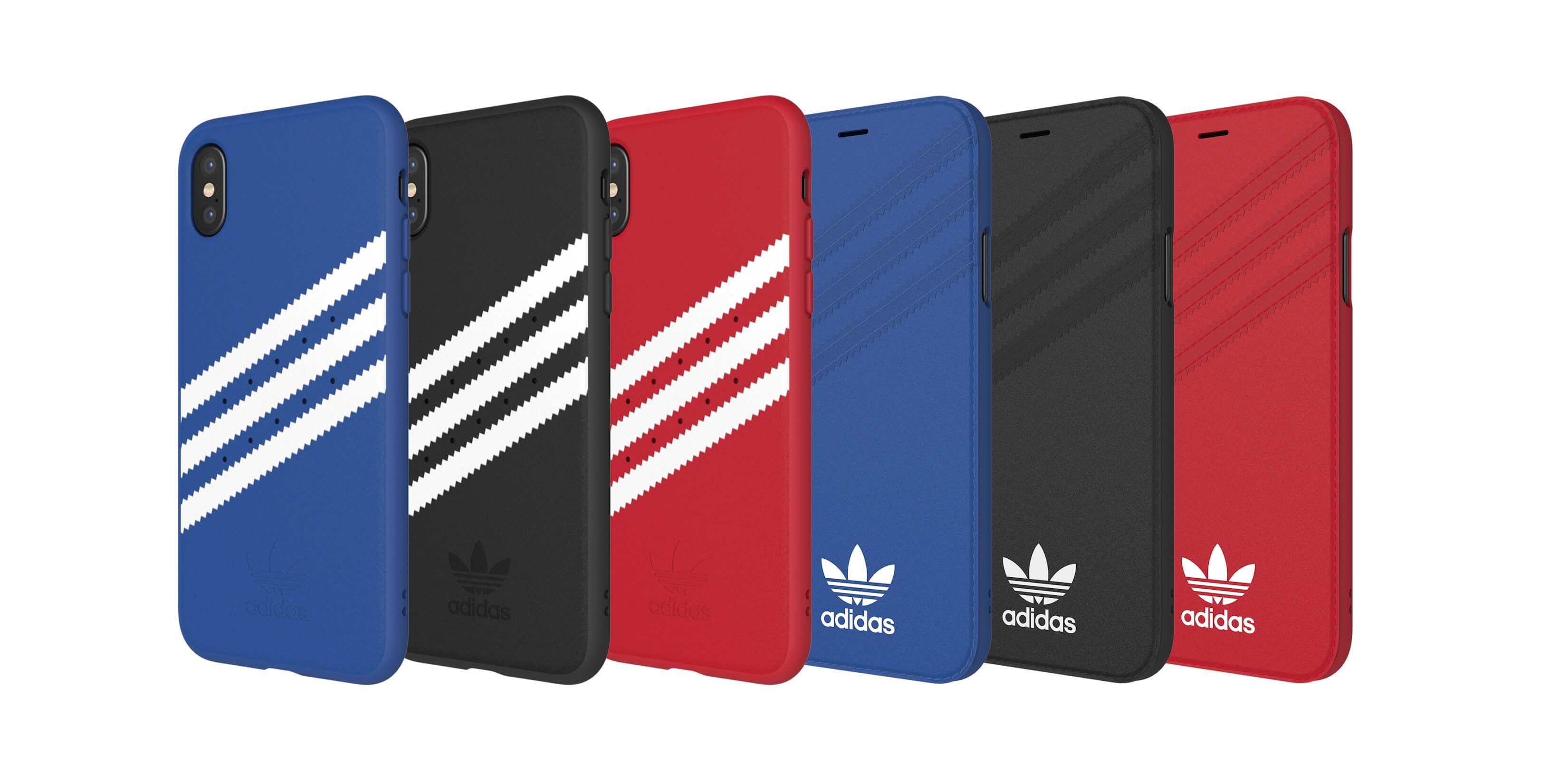 アディダスおなじみのガゼルスタイルの3ストライプとトレフォイルロゴを施したiPhoneケース。 アディダスのクラシック・デザインがiPhone X/8向けにプレッピースタイル
