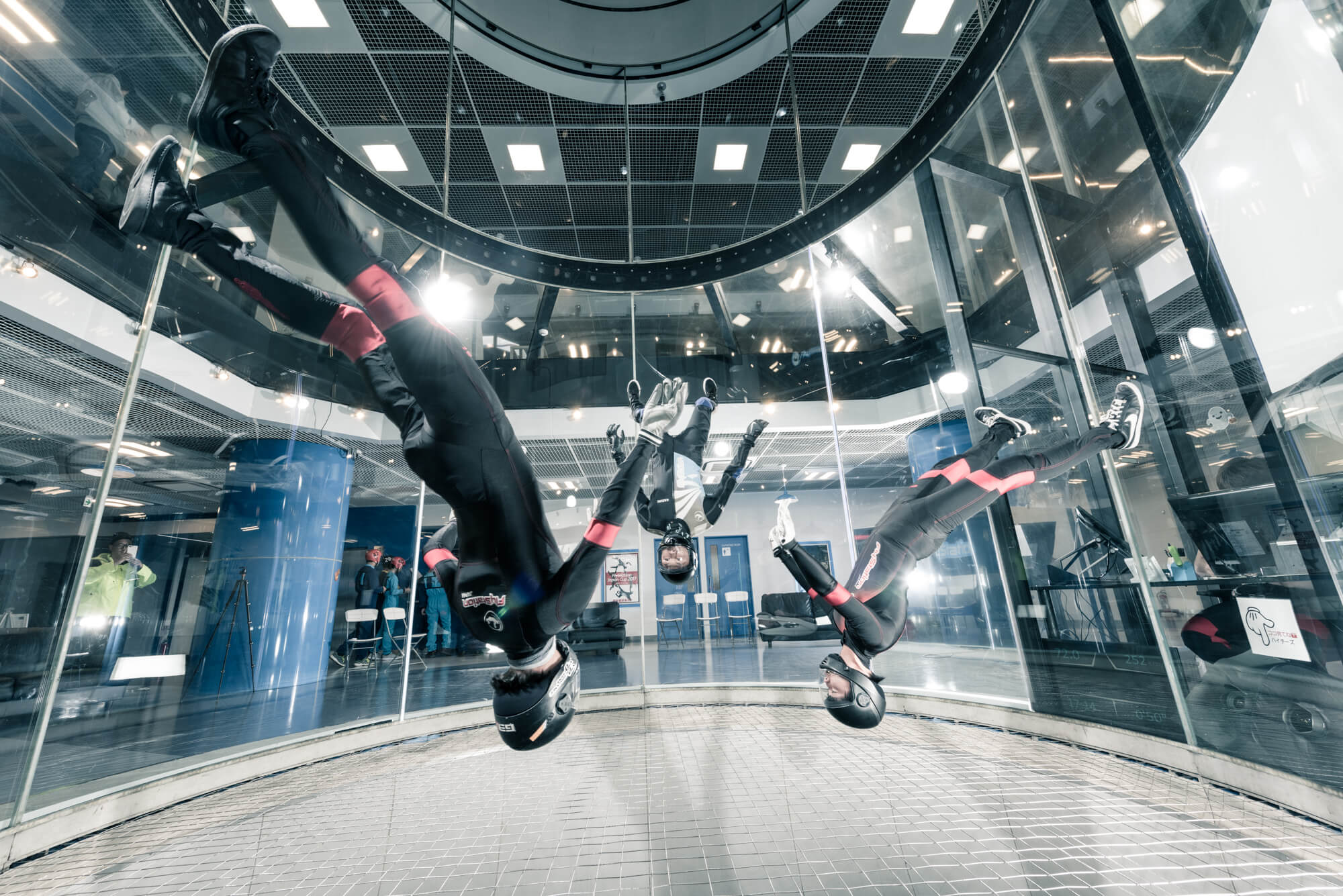 Flying sumo wrestler? The video of indoor skydiving at