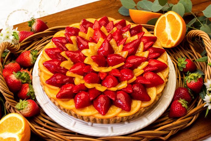 1319_イチゴとオレンジのタルト_w_tr