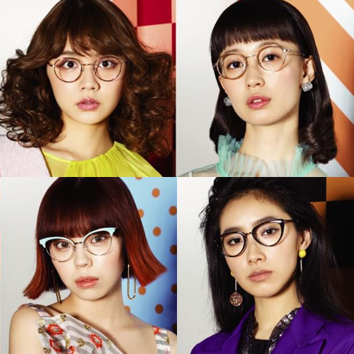 e90a379d4bad Rinko Murata, Saki Shibata, Ayumi Seto & Culumi Nakada collaborate on  Zoff's clear lens sunglasses