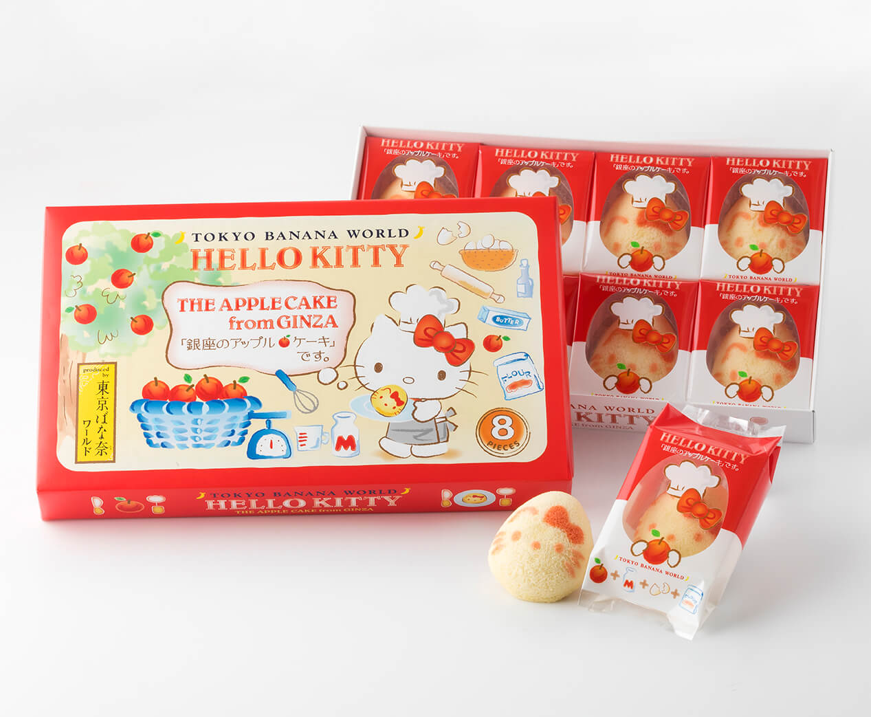 Tokyo Banana World & Hello Kitty Apple Cake Collaboration | MOSHI