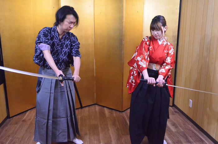 "Yumenoya Asakusa ""Samurai Training"""
