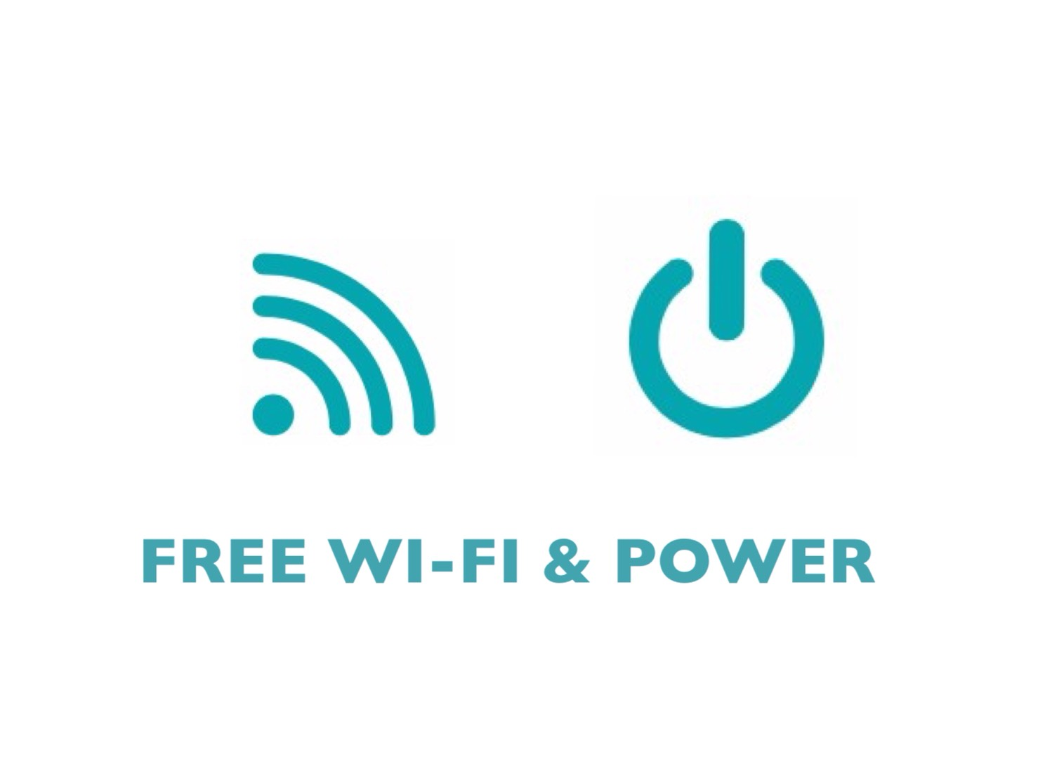 FREE wi-fi & power