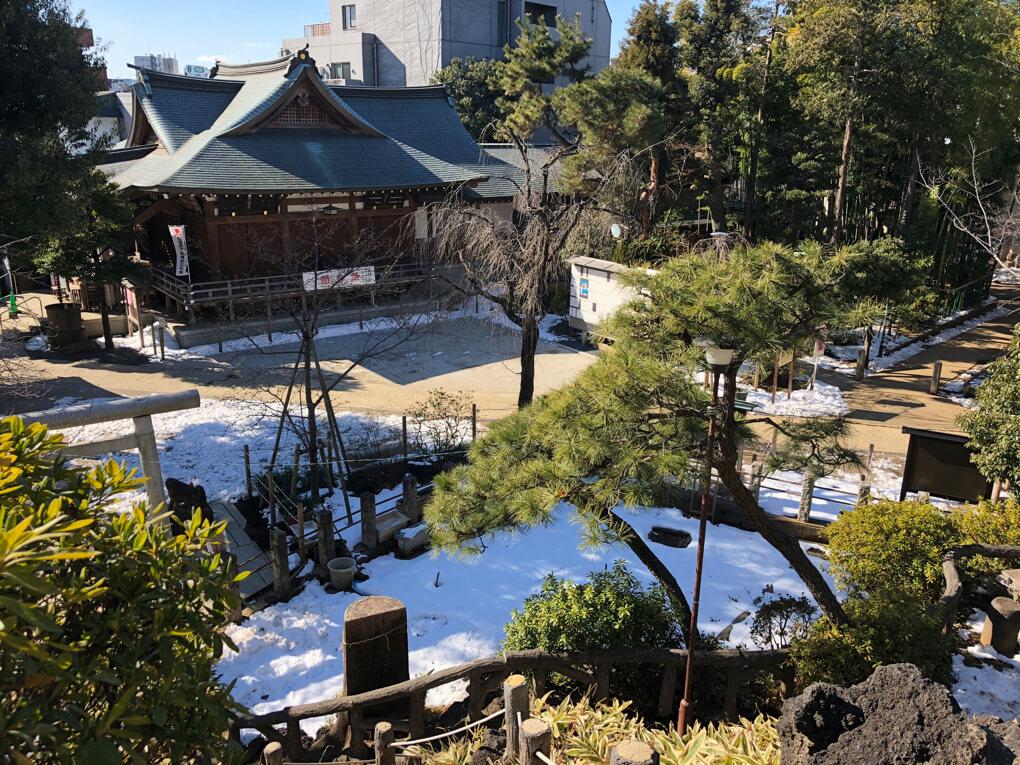 鳩森八幡神社の冨士塚
