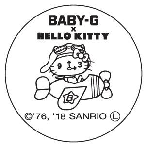 BABY-G x HELLO KITTY_バック刻印