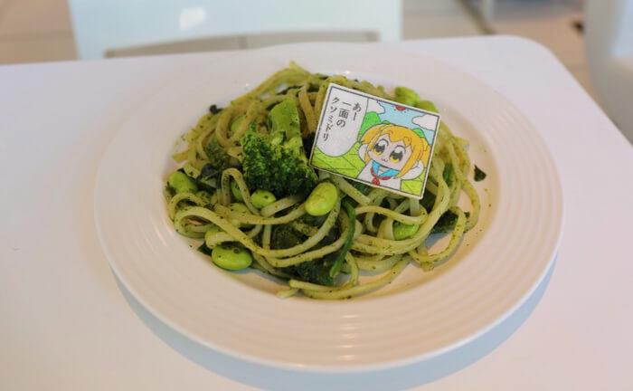 Pop Team Epic collaboration café at Sweets Paradise
