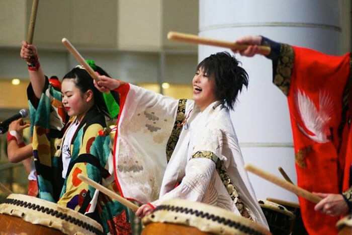 Satsumasendai Odoridaiko will put on a performance using Japanese instruments like the taiko drums and shinobue