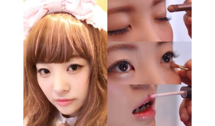"""Lolita Make-Up"" MOSHI MOSHI Kimono Salon Staff Member Maho"
