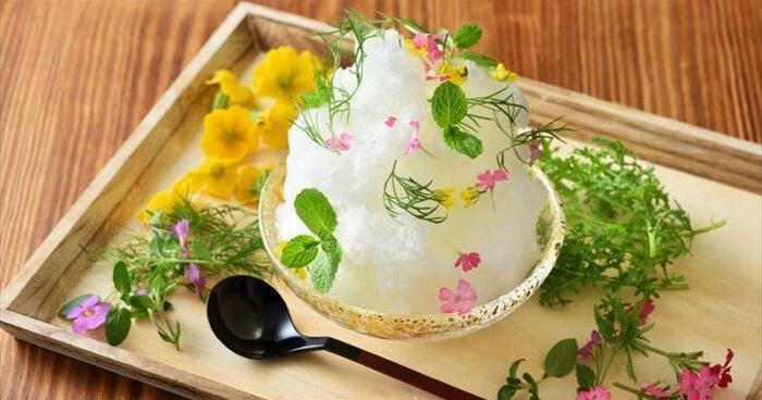 界 伊東(静岡・伊東温泉) 花の香り漂うかき氷