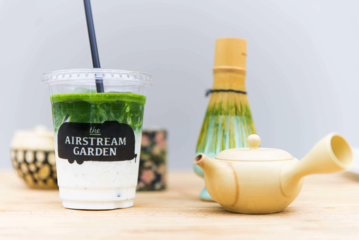 Brown Sugar Matcha Latte  The Alley tea stand