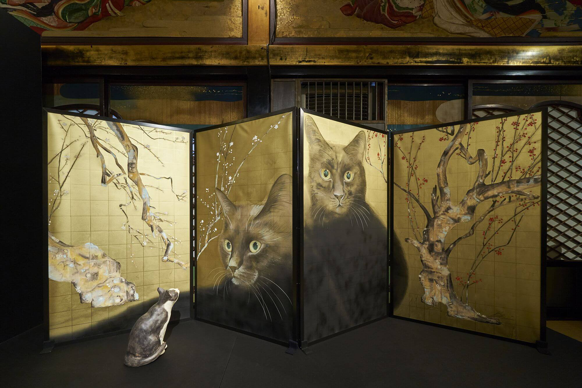 Cat City National Treasure Exhibition  Hyakudan Staircase in Hotel Gajoen Tokyo