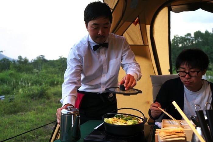 信州エコグランピング「乗鞍 星と月のレストラン」長野