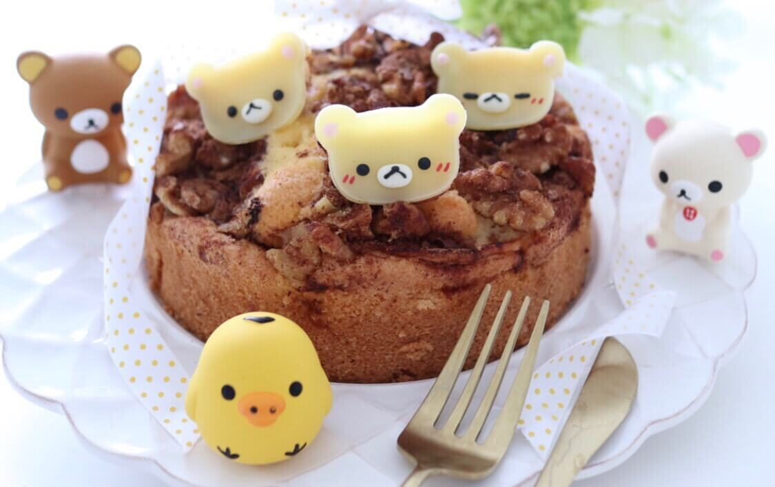 コリラックマのリンゴのケーキ   スイーツ レシピ キャラ弁 キャラスイーツ