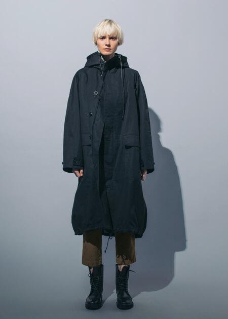 Y's Pre-Fall 2018コレクション  トレンチコート フード付きコート ウォータープルーフコート