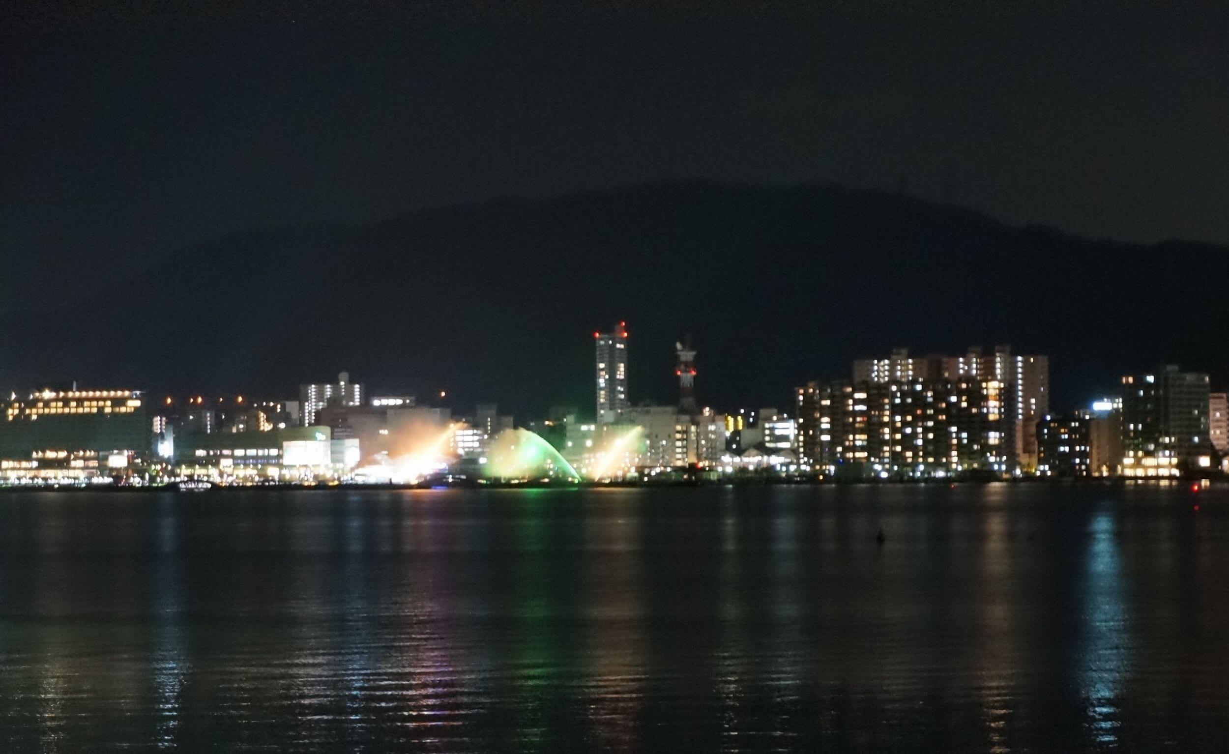 びわ湖 ビア・ボート 夜景
