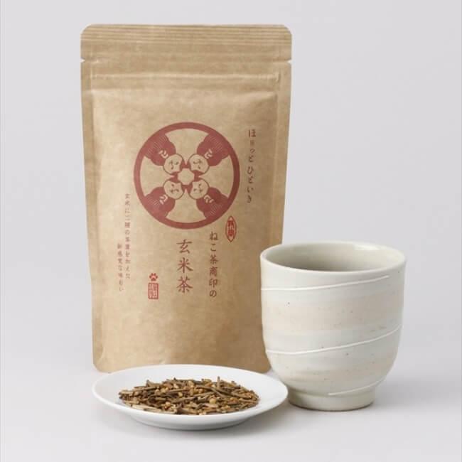 ねこ茶商」日本茶 japanese tea cat genmaicha