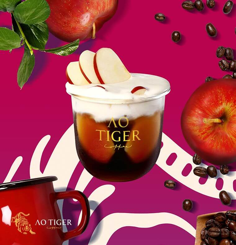 AOTIGER Coffee 原宿 Harajuku アオタイガー コーヒー フルーツコーヒー furuits coffee apple