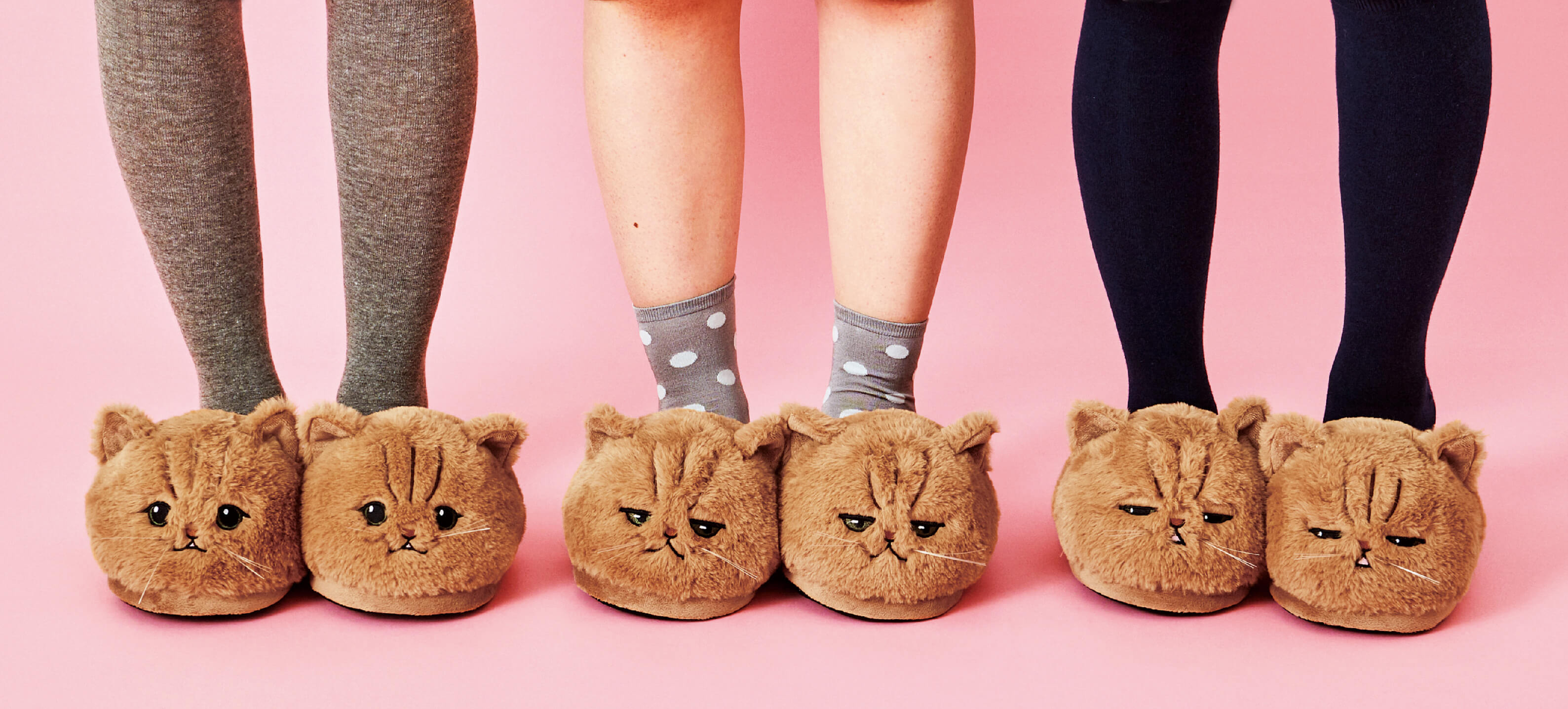 Fluffy Cat Slippers
