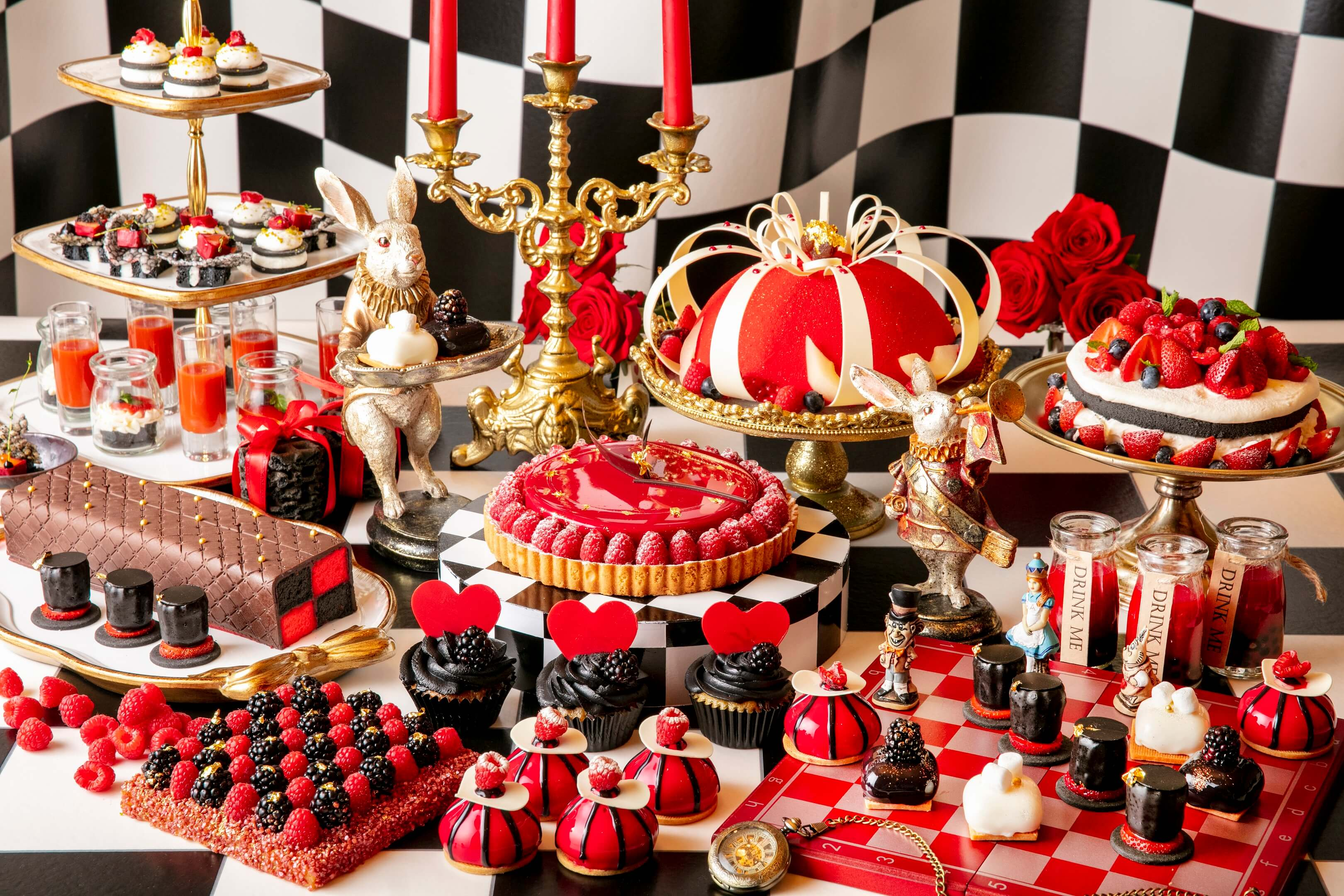 Alice in Wonderland Halloween Themed Dessert Buffet