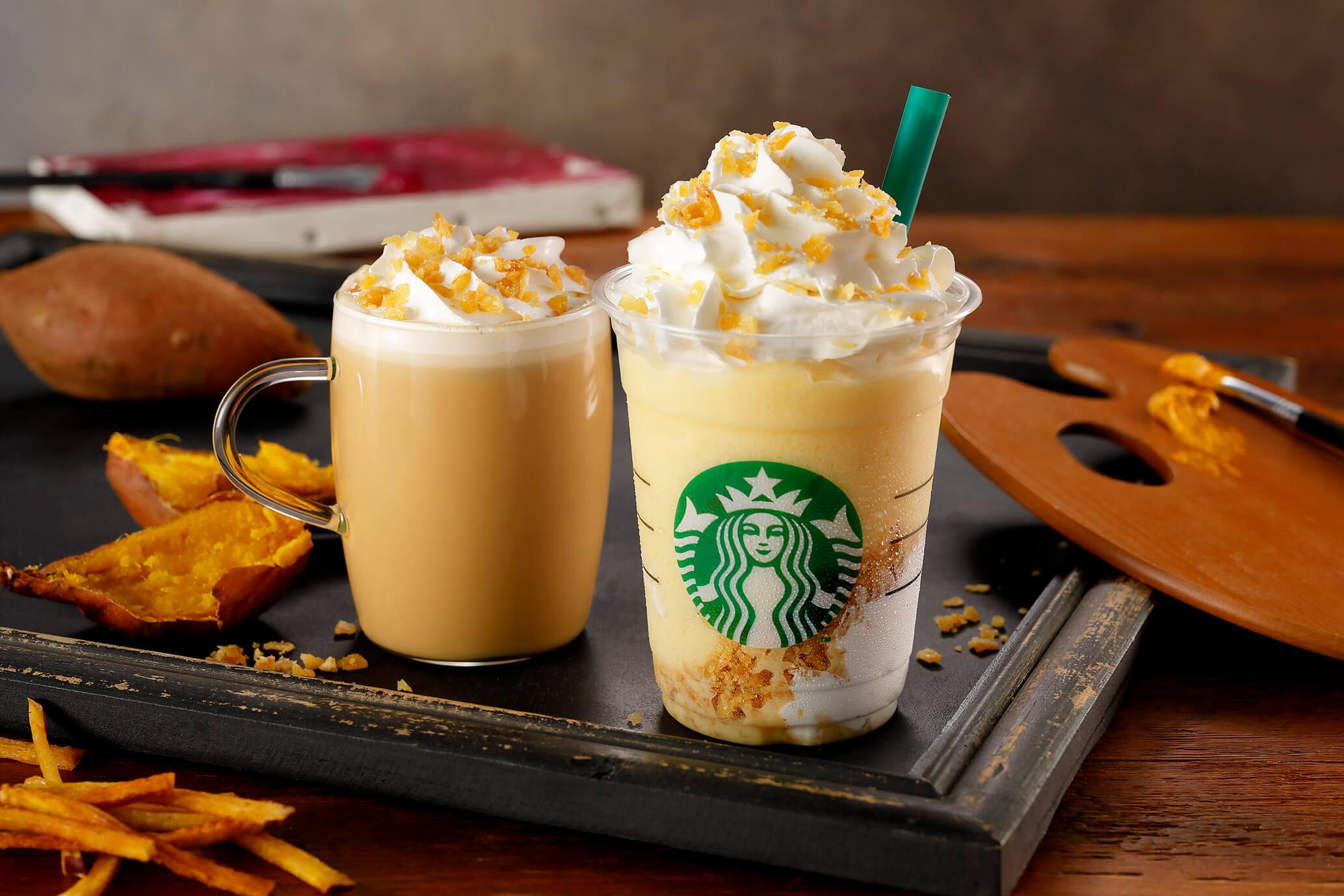 b0f797bbc7a Starbucks Japan Announces Crispy Sweet Potato Frappuccino & Latte ...
