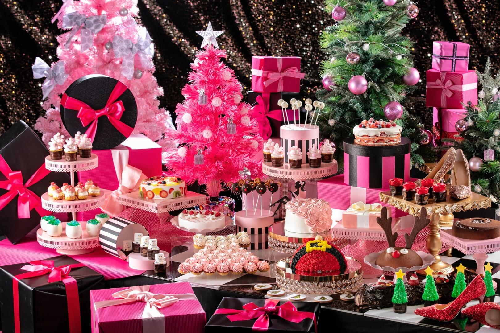 The Buffet Is Overlooked By A Bright Pink Christmas Tree Under Which Are All Presents Could Hope For Including Dress Jewel Box