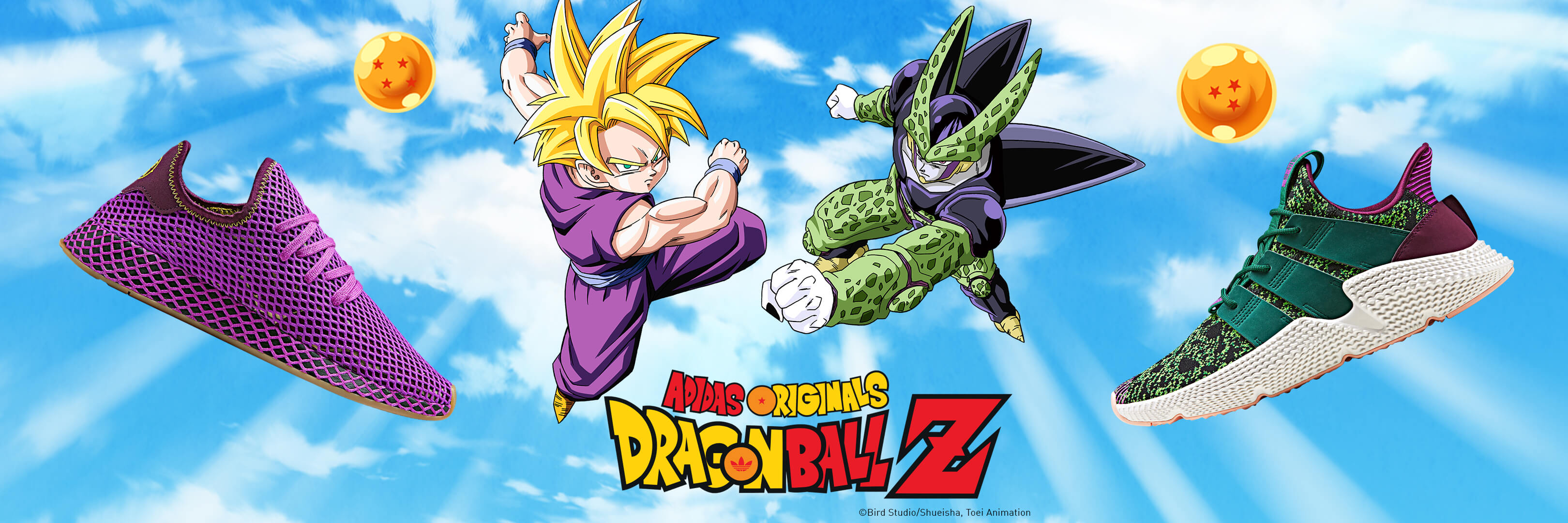 6058723c9 Gohan   Cell adidas Originals by Dragon Ball Z to be Released on ...