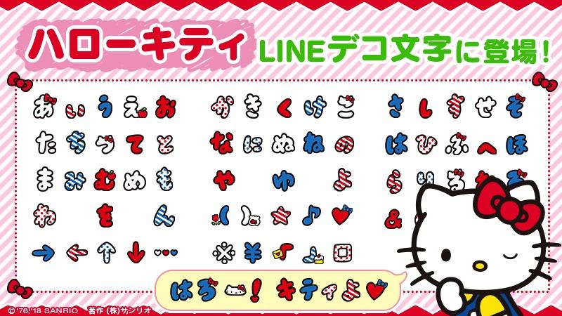 Hello Kitty Bubble Letter Emoji Arrive on LINE Messenger App | MOSHI