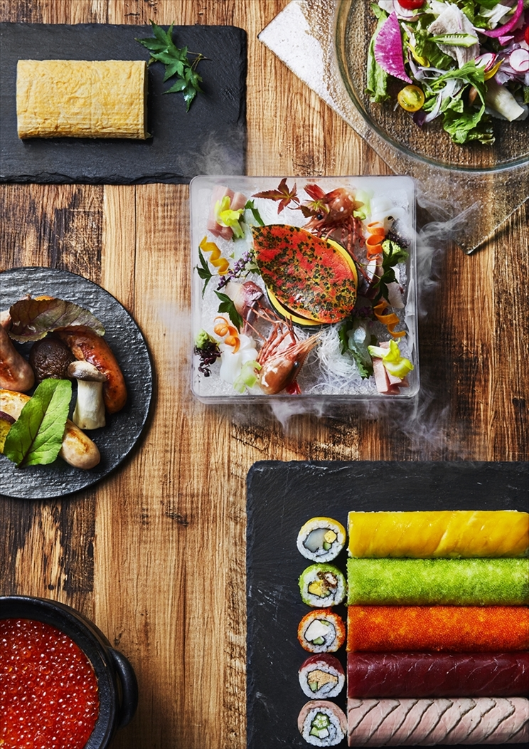 SHARI THE TOKYO SUSHI BARロール寿司や本格和食、居酒屋メニューまで料理充実