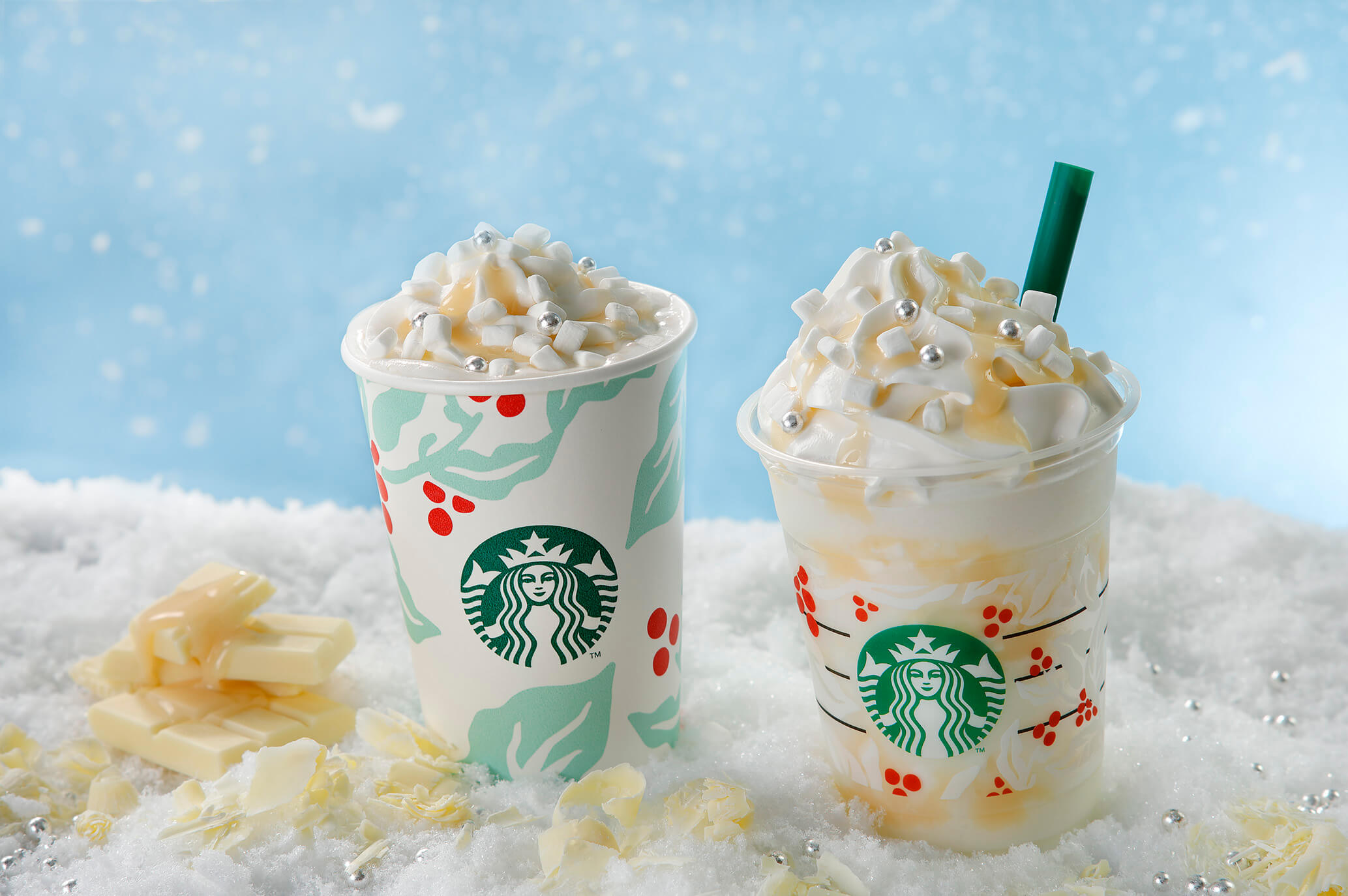 Christmas Starbucks Drinks.Starbucks Japan Unveils Snowy White Chocolate Frappuccino