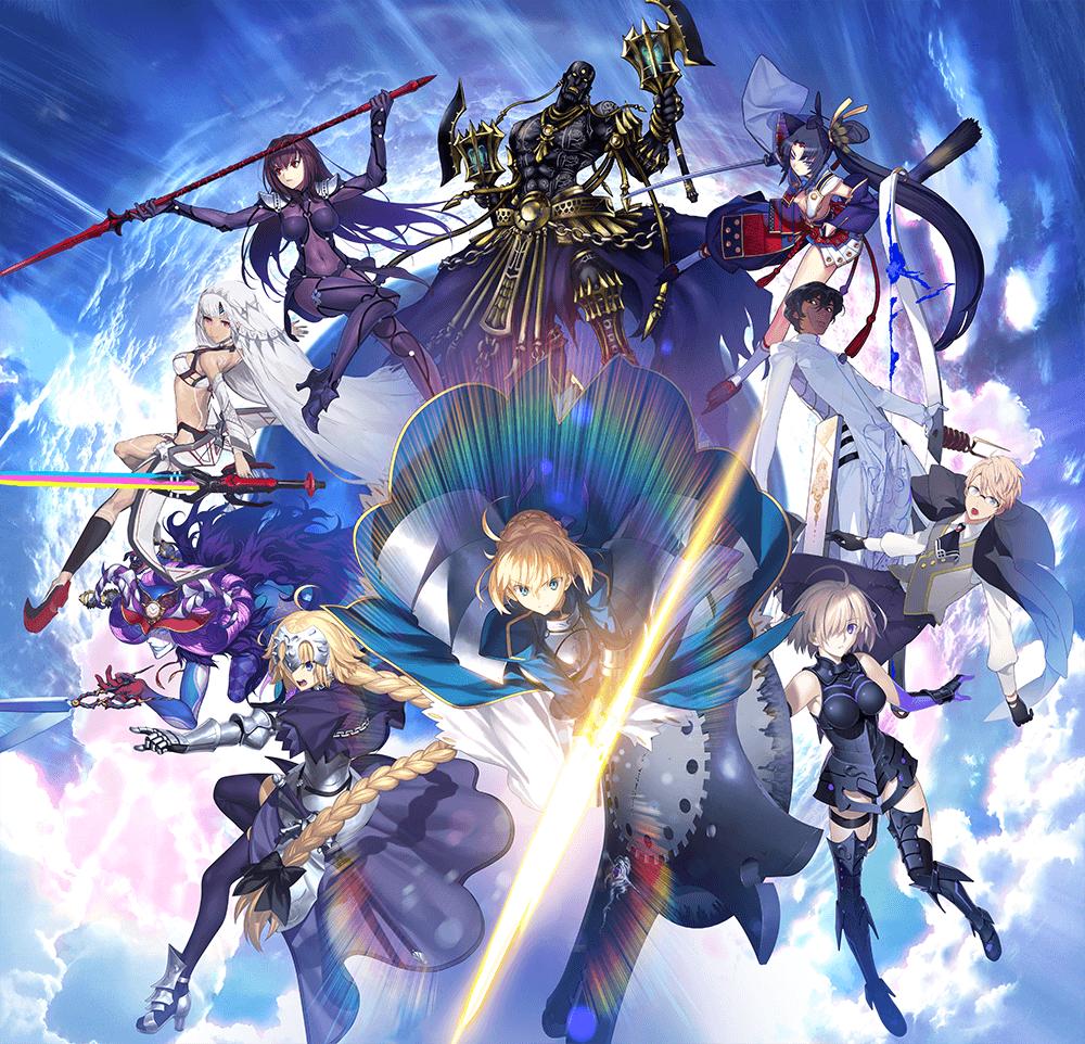 Fate:Grand Order FGO第2弾メインビジュアル(統合)-メイン–