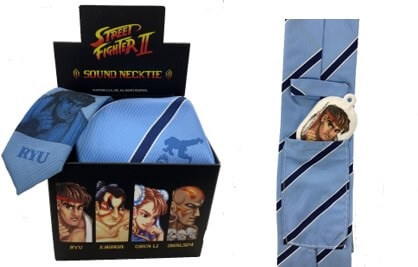 Street Fighter II Neckties With Sound Effects Released by