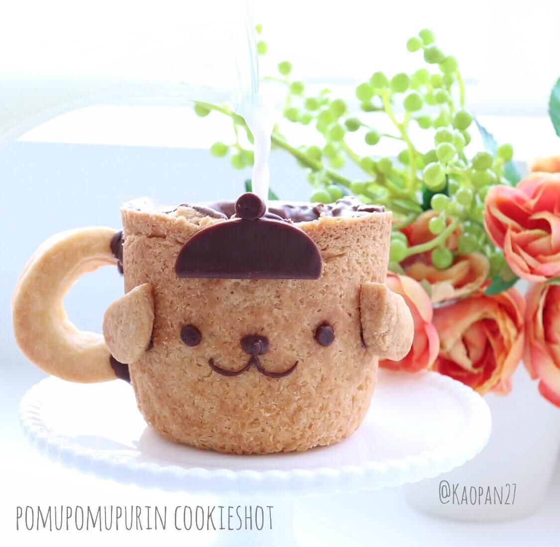 ポムポムプリン スイーツ レシピ pompompurin Recipe 布丁狗 甜點 食譜 バレンタイン valentine 情人節5