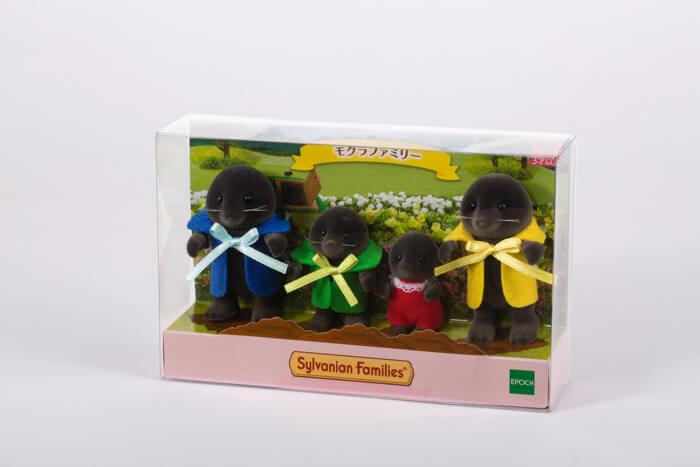 シルバニアファミリー展 Sylvanian Families Exhibition 森林家族展 先行販売 モグラファミリー(パッケージ) copy