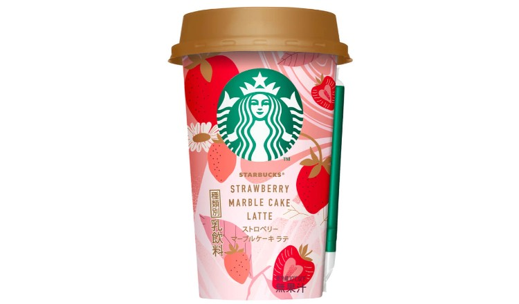 Starbucks S Strawberry Marble Cake Latte Releasing This