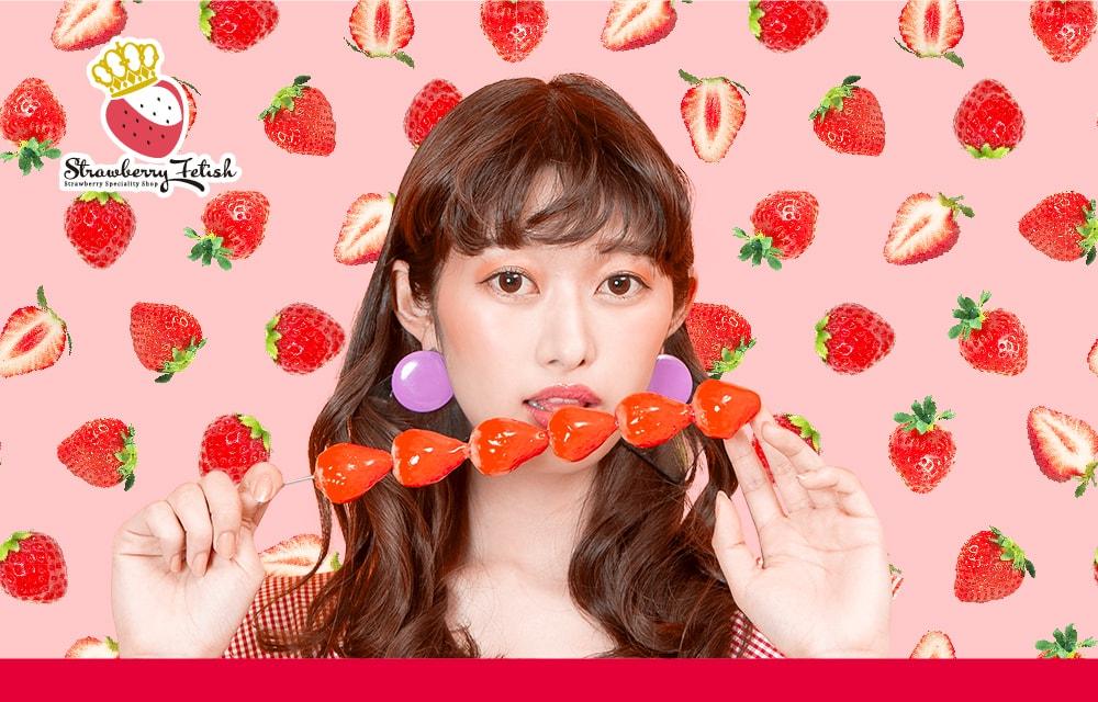 main SHIBUYA109渋谷 いちご飴 strawberry candy Strawberry Fetish ストロベリーフェティッシュ-min