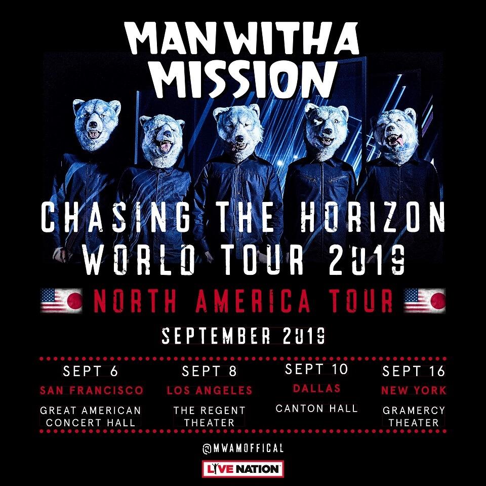 Man With A Mission 5年ぶりの単独北米ツアーが決定 Moshi Moshi