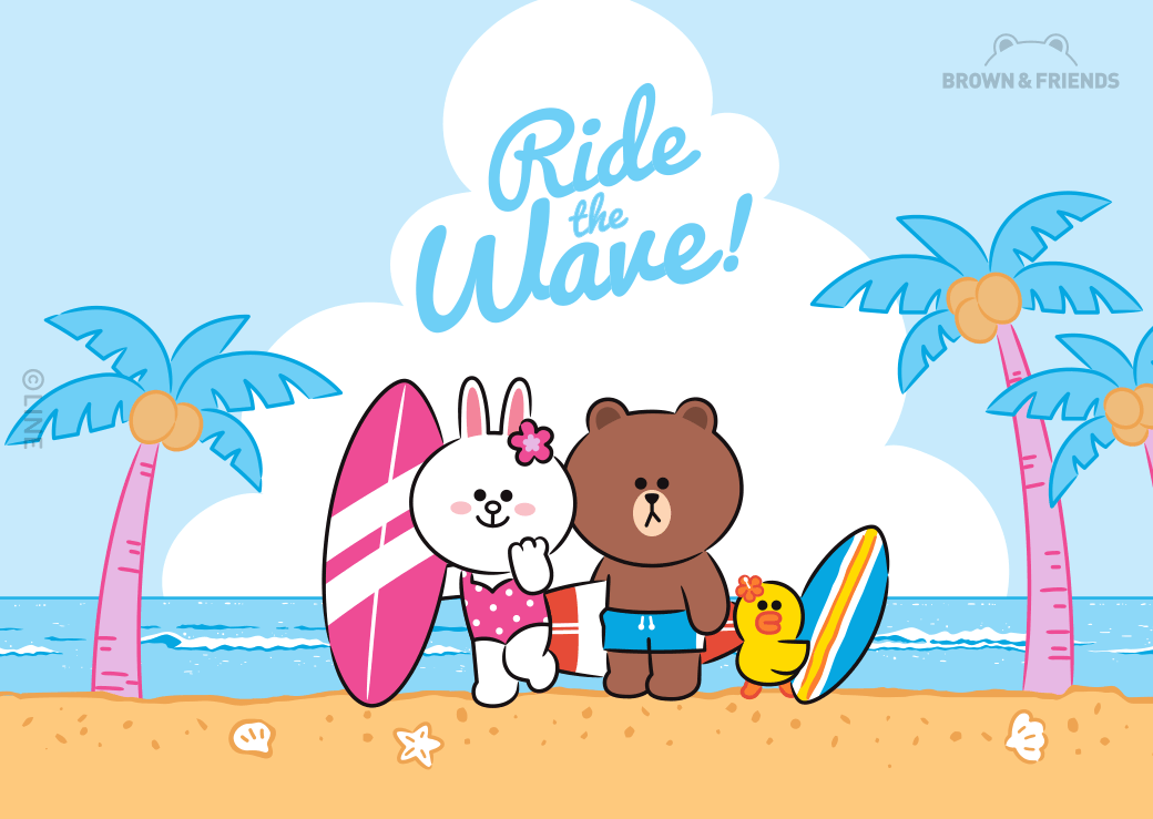 Ride the Wave!LINE Friends Japan