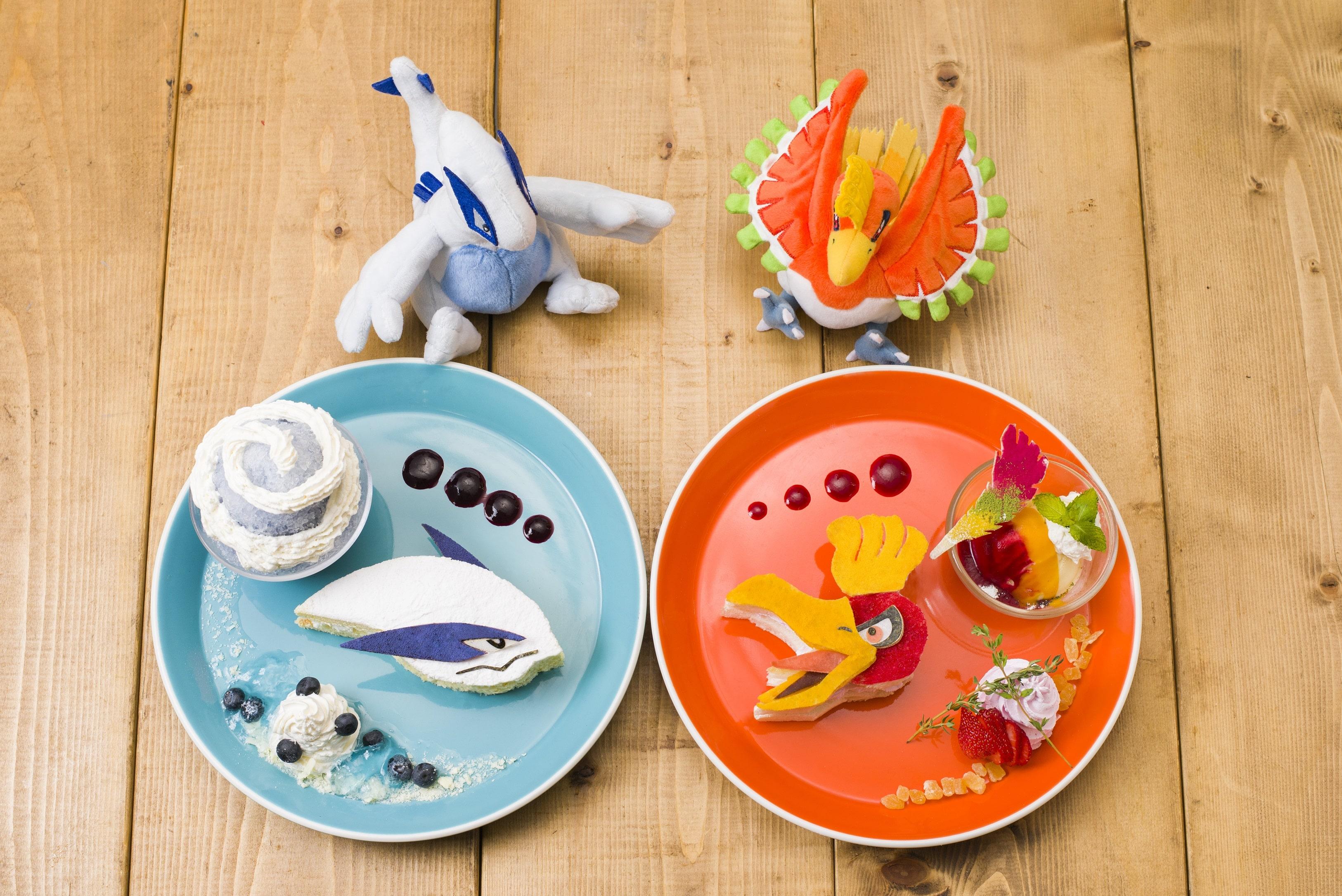main ポケモンカフェ pokemon cafe ポケットモンスター 金・銀 poket monster gold silver 新メニュー new menu ルギア lugia ホウオウ houou-min