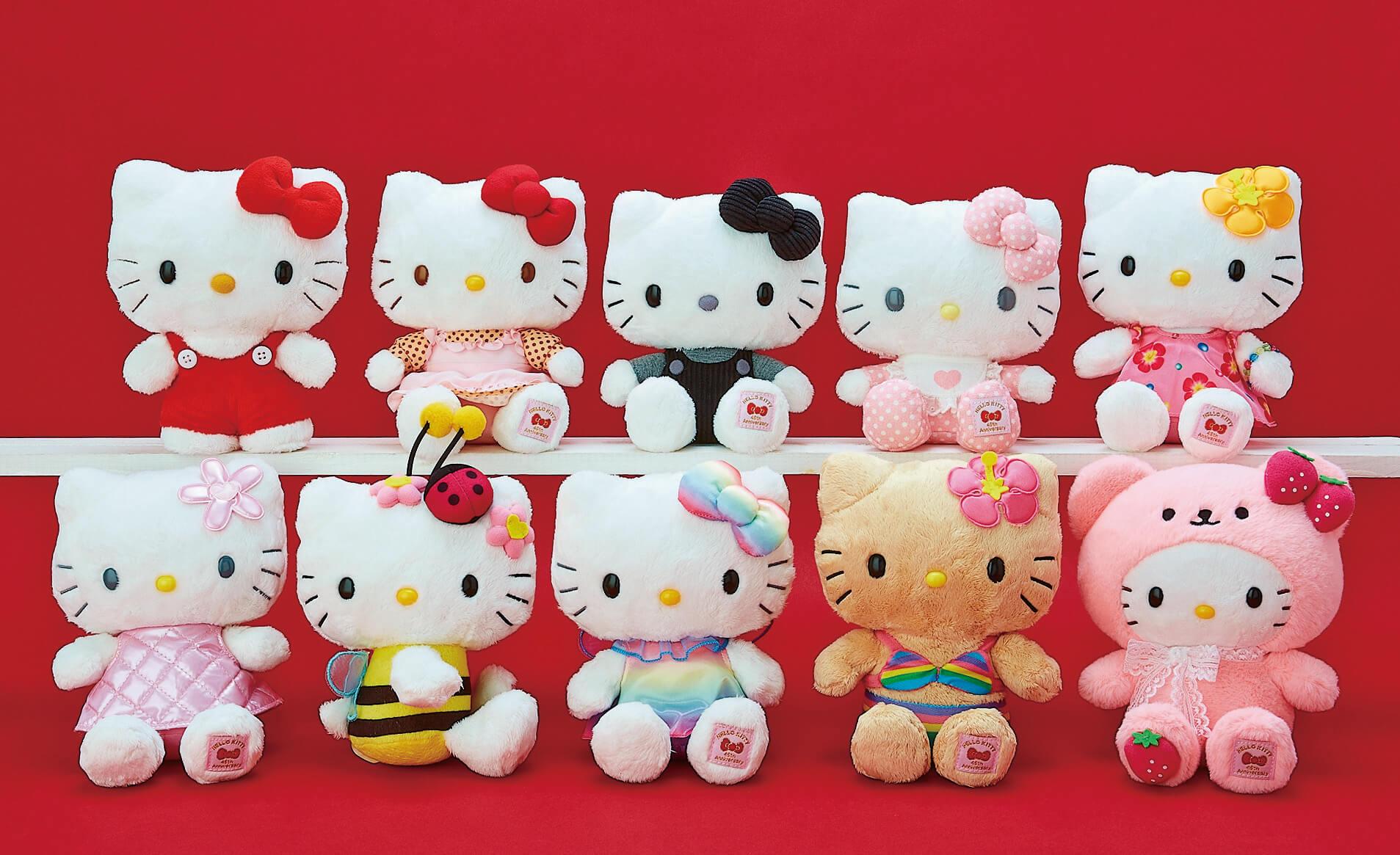 Hello Kitty Celebrates 45th Anniversary With 1970s ー 2000s