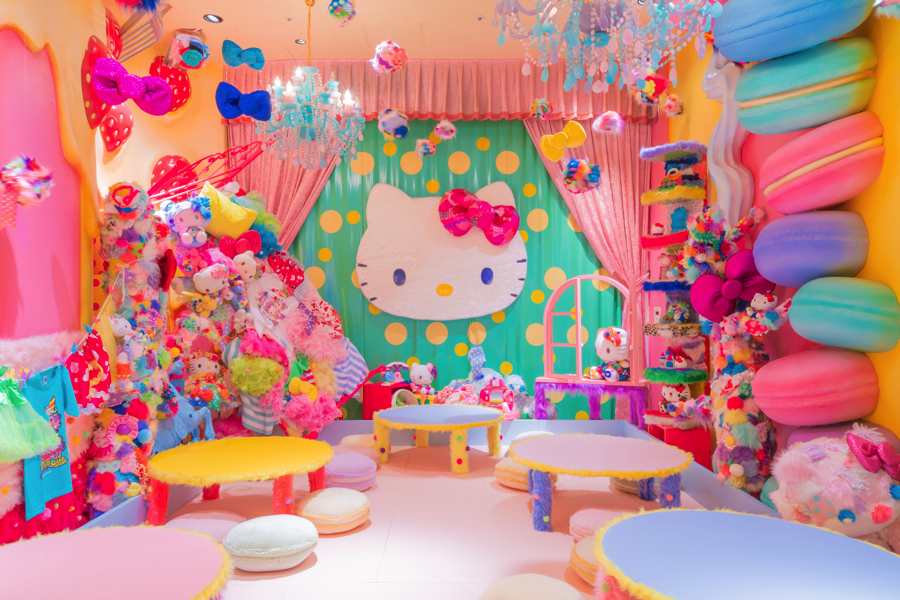原宿 キティ カワイイ KAWAII MONSTER CAFE カワイイモンスターカフェ HARAJUKU 増田セバスチャン 予約 Mel-Tea Hello Kitty Room