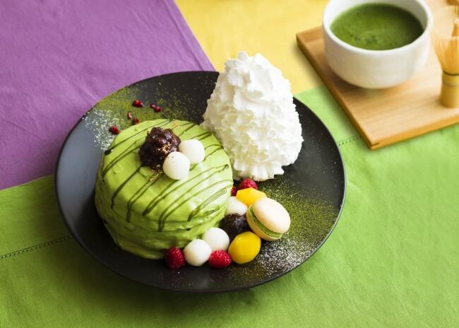 パンケーキ 宇治抹茶 Eggs 'n Things京都四条店 スイーツ pancake matcha kyoto sweets