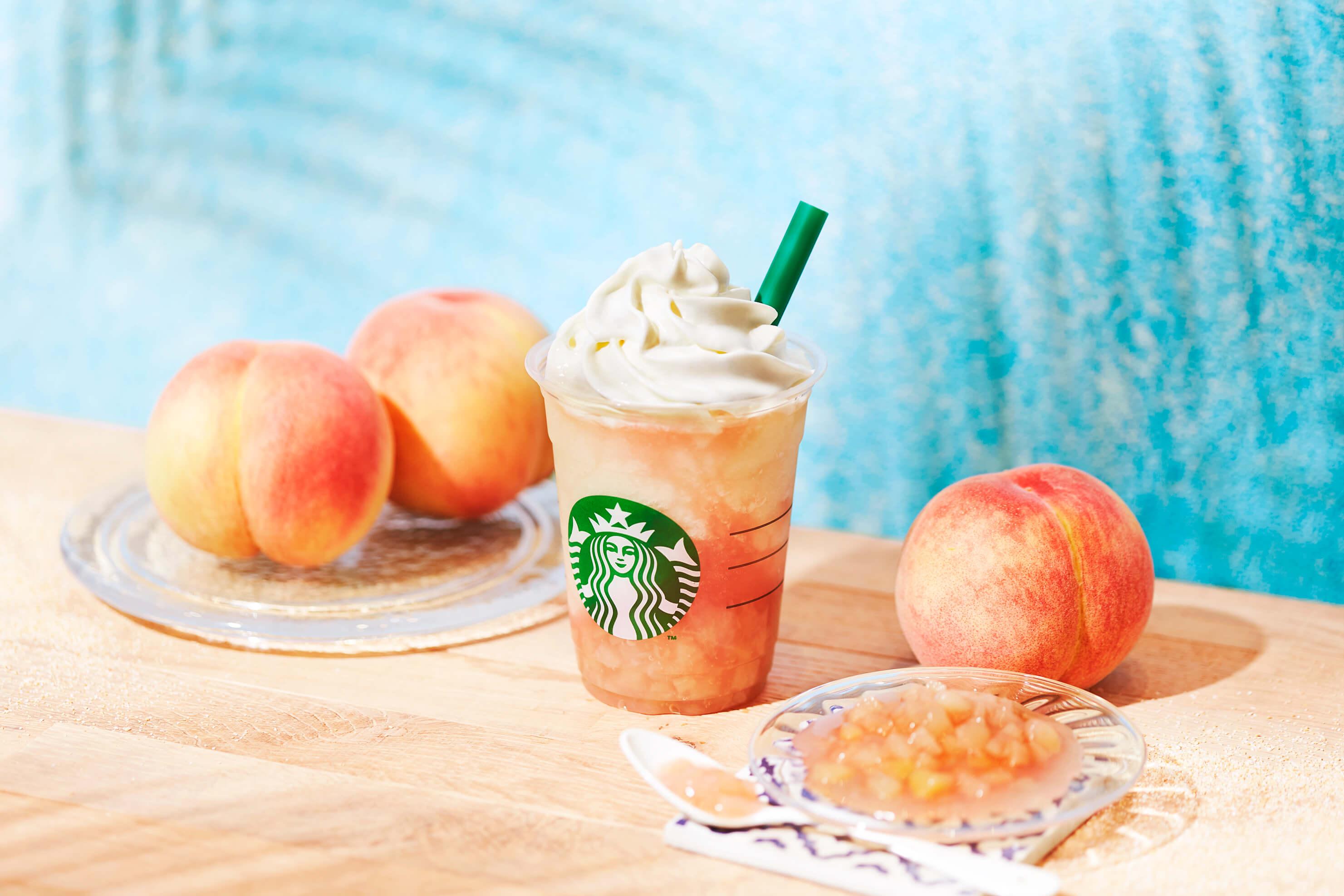 スタバ 新作 フラペチーノ 桃 ピーチ ドリンク Starbucks new peach