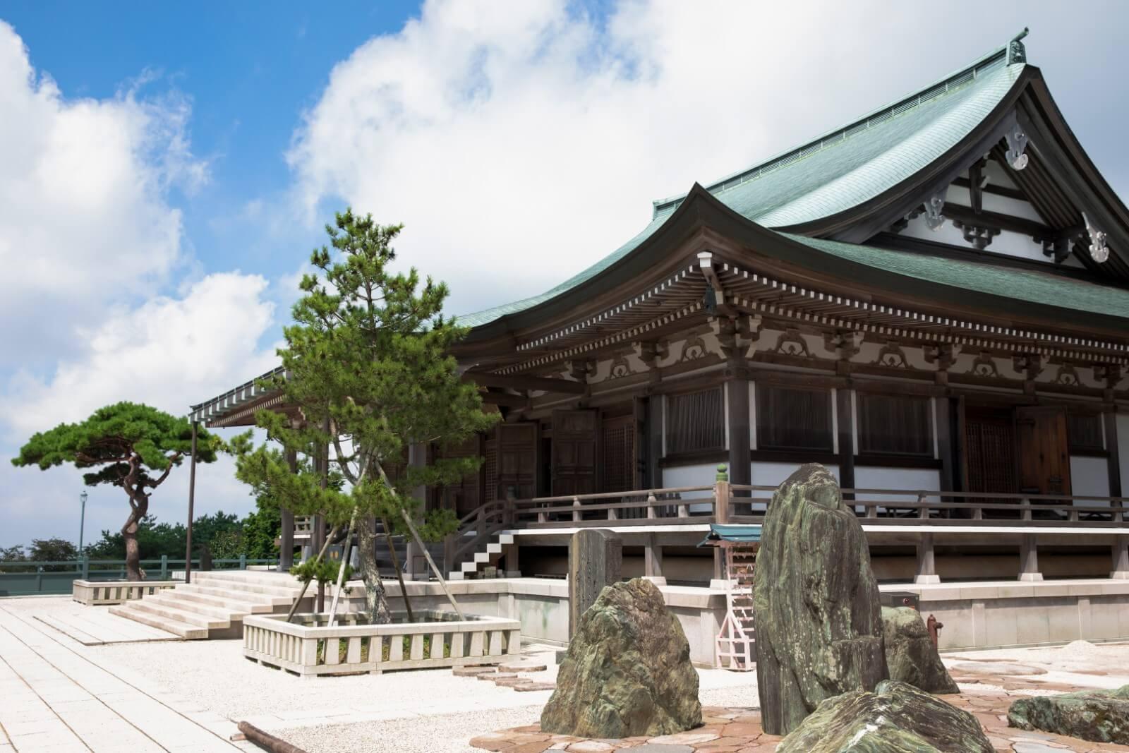 神戸 摩耶山天上寺 Kobe masayan tenjoji (横から)